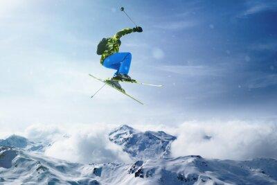 Póster Skier jumps