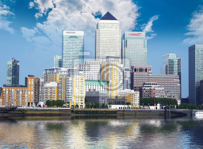 Skyline de Canary Warf, Londres.