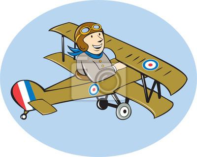 Sopwith Camel Scouts avión de dibujos animados