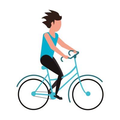 sport outdoor bicycle activity cartoon