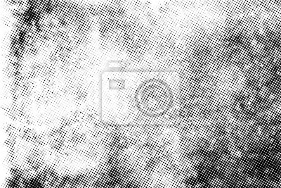 Póster Subtle halftone vector texture overlay. Monochrome abstract splattered background.
