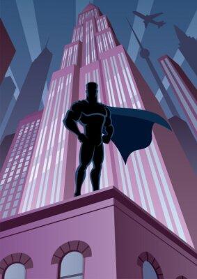 Super héroe en la ciudad