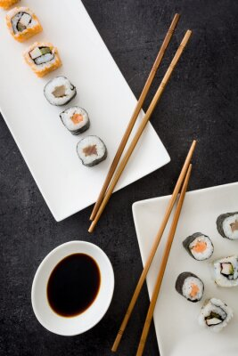 Póster Sushi. comida japonesa
