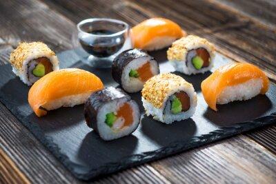 Póster Sushi de mariscos japoneses