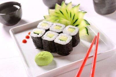 Póster Sushi vegano