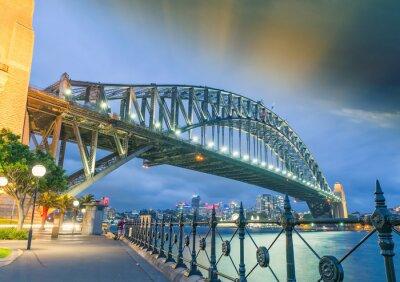 Póster Sydney, Nueva Gales del Sur. Impresionante puesta de sol del Puente del Puerto