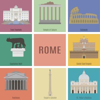 Póster Symbols of Rome