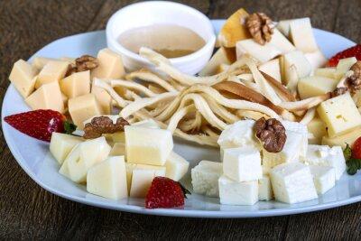 Póster Tabla de quesos