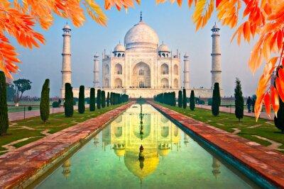 Póster Taj Mahal al amanecer, Agra, Uttar Pradesh, India.