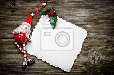 Tarjeta de Navidad con Santa