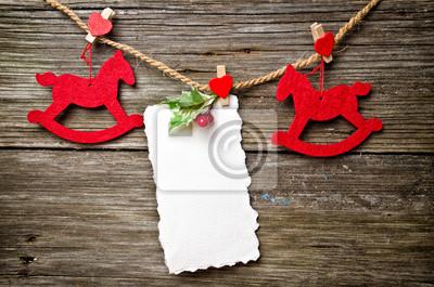 Tarjeta de Navidad en la madera