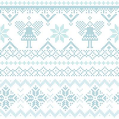 Póster Tarjeta de Navidad escandinava - para la invitación, papel pintado