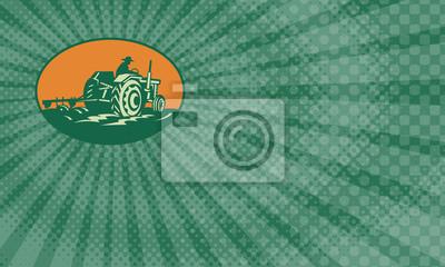 Tarjeta de visita orgánica de la granja