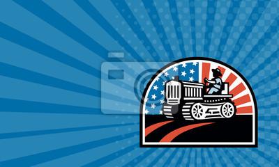 Tarjeta de visita Tractor americano del vintage del montar a caballo