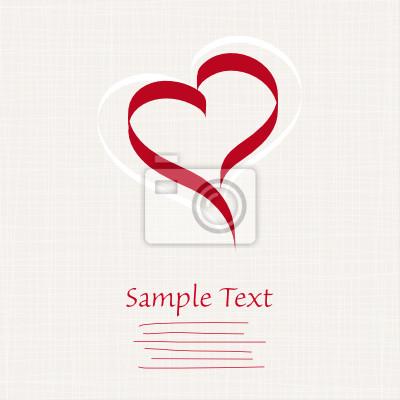 Póster Tarjeta: Hearts / Love