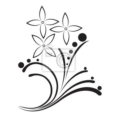 Tatuaje Blanco Y Negro En El Adorno De La Flor Carteles Para La