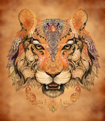 Póster Tatuaje, jefe de gráficos de un tigre