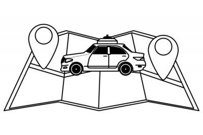taxi car public transport cartoon