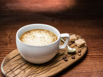 Póster Taza de cappuccino.