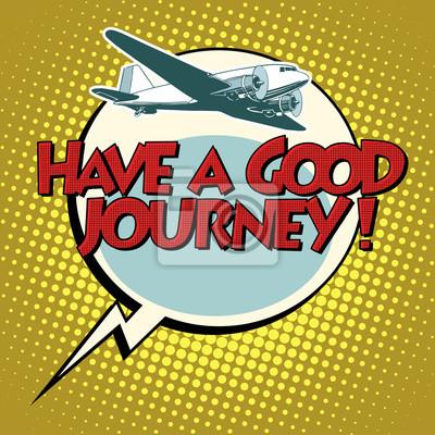 Tener un buen vuelo avión de viaje