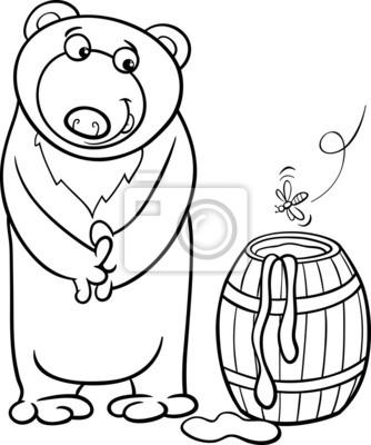Tengan paciencia para colorear de dibujos animados de miel carteles ...