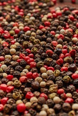 Póster Textura de especias de pimienta