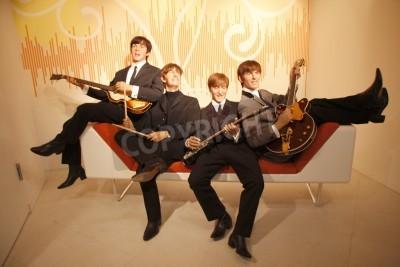 Póster The Beatles - figura de cera en el Madame Tussauds, 10 de julio de 2008, Unter den Linden, de Berlín-Mitte.