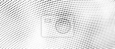 Póster The halftone texture is monochrome. Vector chaotic background
