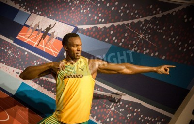 Póster The statue of Usain Bolt at Madame Tussauds in London, 2012
