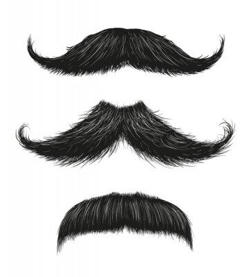 Póster Three Mustache Set