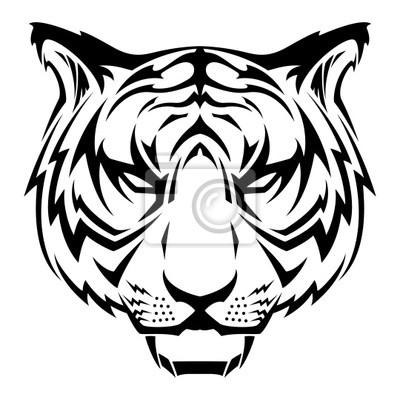 Póster Tiger Head Tattoo