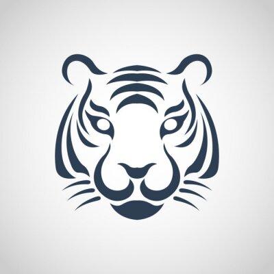 Póster tiger logo vector