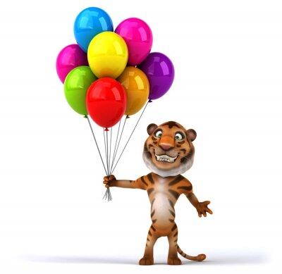 Póster tigre divertido