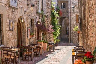 Póster Tipico ristorante italiano nel Vicolo storico