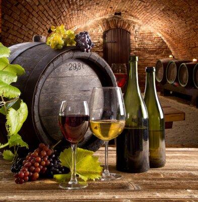 Póster Todavía del vino vida