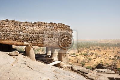 Toguna en un pueblo Dogon, Mali, África.