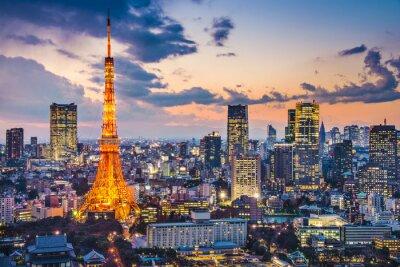 Póster Tokio, Japón, en la Torre de Tokio