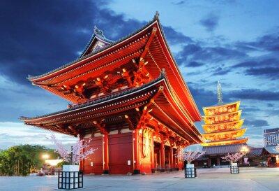 Póster Tokio - Senso-ji, el Templo de Asakusa, Japón