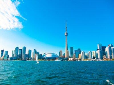 Póster Toronto horizonte de la ciudad desde el ferry viaja al centro de la isla