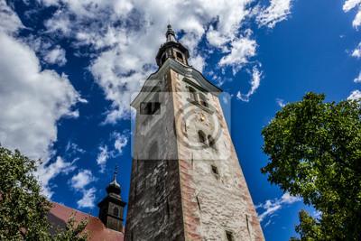 Torre de la iglesia de la iglesia de peregrinación de la Asunción de María, Ble