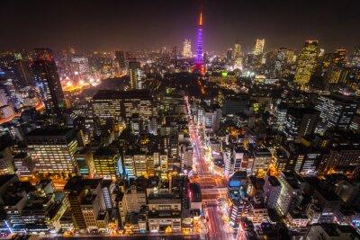 Póster Torre de Tokio, Tokio, Japón.