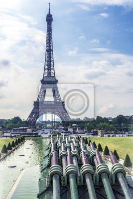 Torre Eiffel y las fuentes del Trocadero.