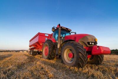 Póster Tractor Agricultura y remolque