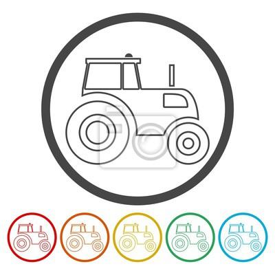 Tractor conjunto de iconos
