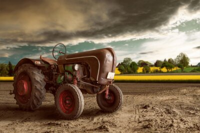 Póster Tractor de la vendimia