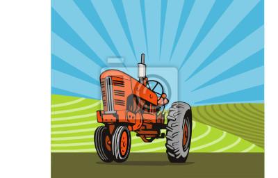 Tractor en el brazo