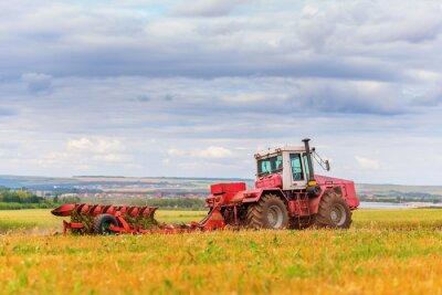 Póster Tractor en el campo
