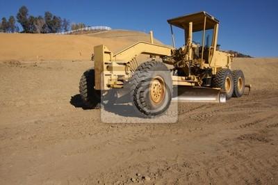 Tractor en un emplazamiento de la obra