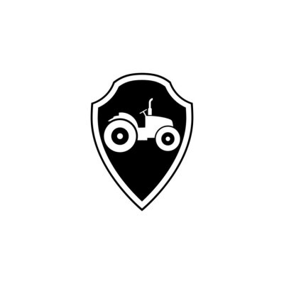 Tractor icon isolated on white background