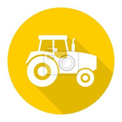 Tractor icono con sombra larga
